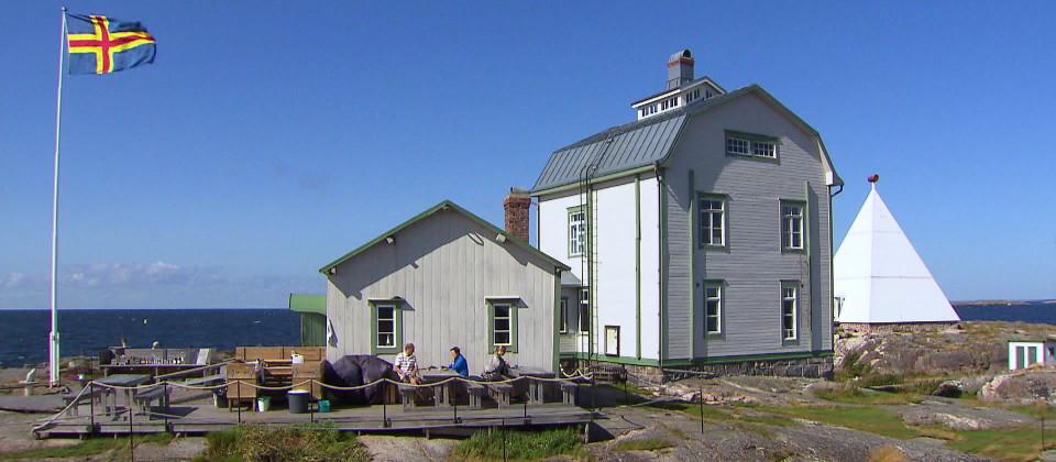 Ein Haus auf den Aland-Inseln