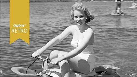 SWR Retro junge Frau bei Wassersport auf dem Bodensee