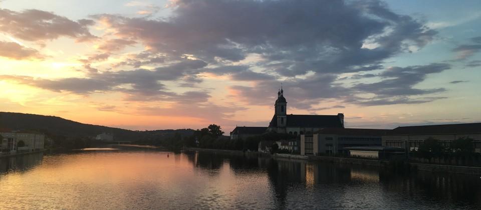 Die Mosel bei Pont-à-Mousson