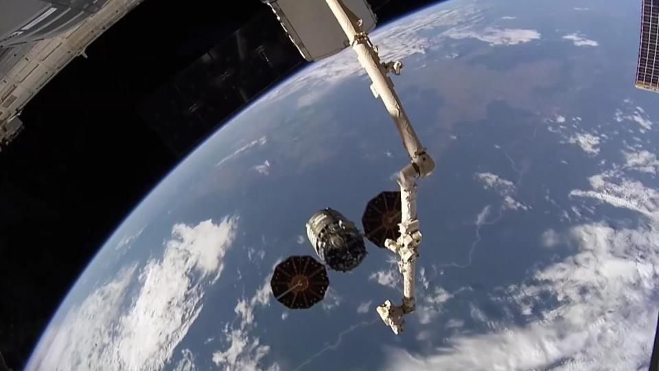 Blick vom Weltall auf die Erde