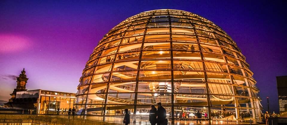 Die Reichstagkuppel in Berlin