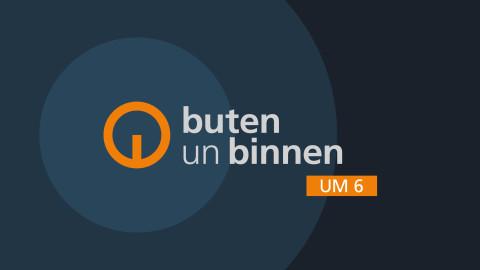 Logo mit Schriftzug: buten un binnen um 6