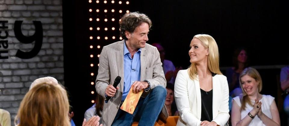 Judith Rakers und Giovanni di Lorenzo in der Juli 2015-Sendung von 3nach9.