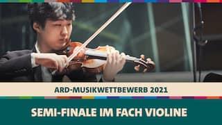 Dayoon You spielt die Violine beim Semi-Finale des ARD-Musikwettbewerbs