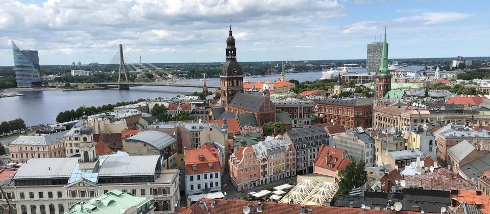 Aussicht vom Turm der Petrikirche in Riga