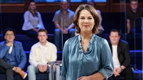 Annalena Baerbock in der Wahlarena 2021