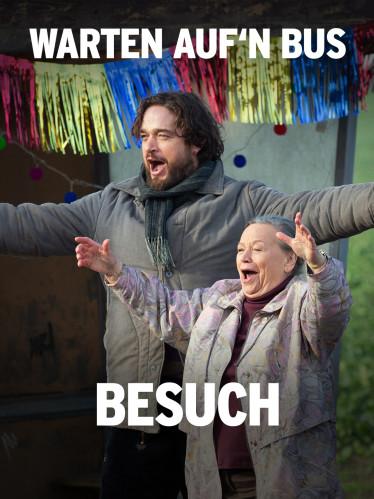 """Filmplakat """"Warten auf'n Bus: Besuch"""" (Quelle: rbb/Frédéric Batier)"""