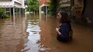 Hochwasser in Zell an der Mosel