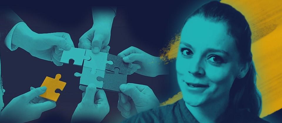 Moderatorin Sabine Pusch, Symbol für Integration