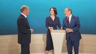 Triell - Kanzlerkandidat Olaf Scholz, Kanzlerkandidatin Annalena Baerbock und Kanzlerkandidat Armin Laschet
