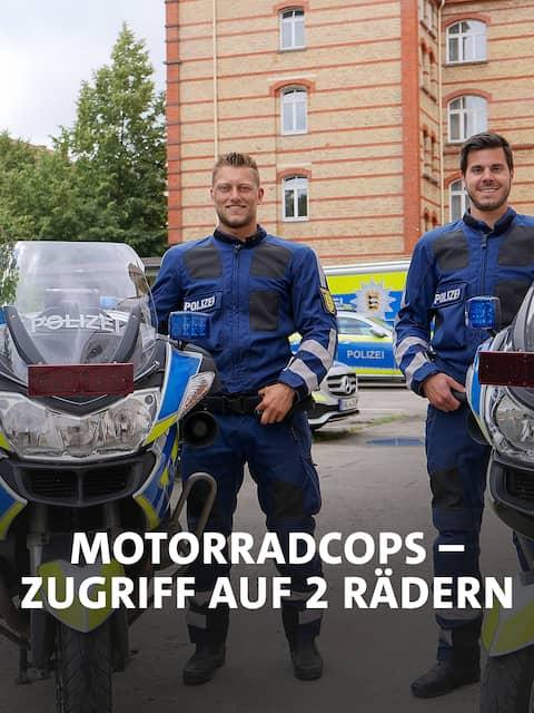 Polizeioberkommissare Mike Büchel und Florian Becker sind seit etwa sieben Jahren befreundet. Seit knapp zwei Jahren gehen sie bei der Motorradstaffel in Karlsruhe auch gemeinsam auf Streife.