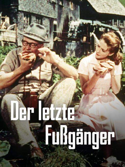 Gottlieb (Heinz Erhardt) und Kiki (Christine Kaufmann) gönnen sich eine Pause.