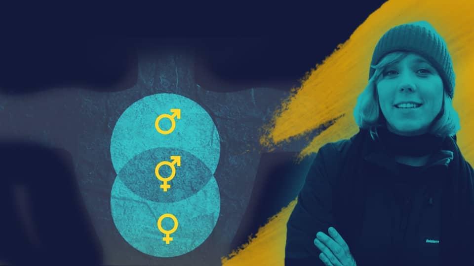 Presenterin Christina Wolf, Symbolbild für sexuelle Vielfalt   Bild: BR, picture-alliance/dpa, colourbox.com, Montage: BR