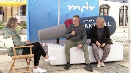 Im Gespräch zur Bundestagswahl 2021 auf dem MDR aktuell Sofa in Torgau.