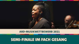 Axelle Fanyo singt beim Semi-Finale des ARD-Musikwettbewerbs