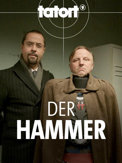 Prof. Boerne (Jan Josef Liefers, rechts) und Frank Thiel (Axel Prahl) in der Villa des ermordeten Rotlichtkönigs Bruno Vogler (Frank Zander).