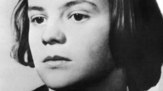"""Sophie Scholl, Mitglied der Widerstandsgruppe """"Weiße Rose"""""""