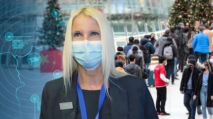 Mitarbeiterin am Flughafen Frankfurt