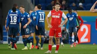 Im Hintergrund bejubelt die TSG das 1:0 gegen Köln. Jorge Mere im Vordergrund zeigt sich enttäuscht