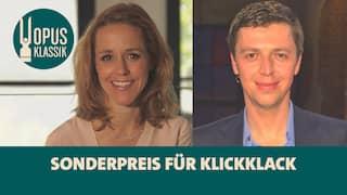 Sol Gabetta und Martin Grubinger, das Moderatorenteam von KlickKlack - das Klassikmagazin bekommt den OPUS KLASSIK Sonderpreis der Jury für besondere mediale Formate und Verbreitung 2021