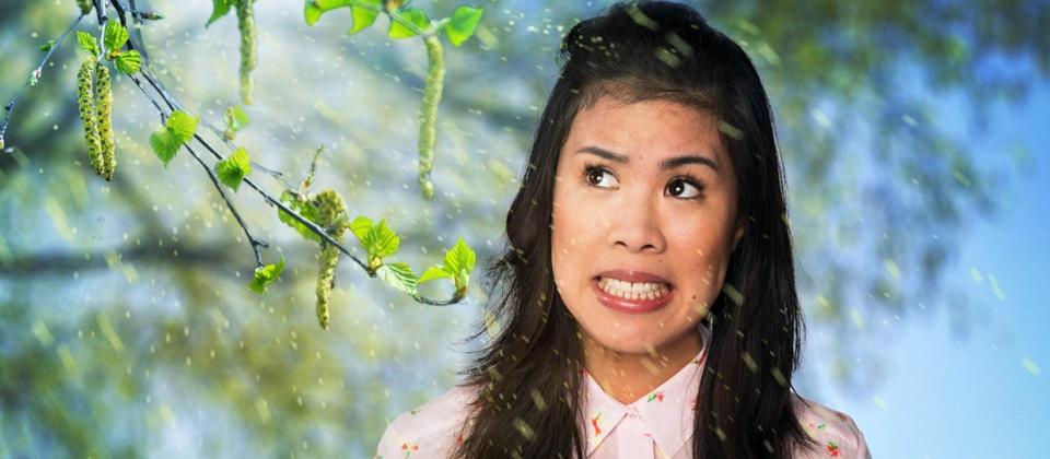 Montage: Mai Thi Nguyen-Kim wird von Pollen umweht