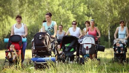 Konkurrenzkampf am Kinderwagen