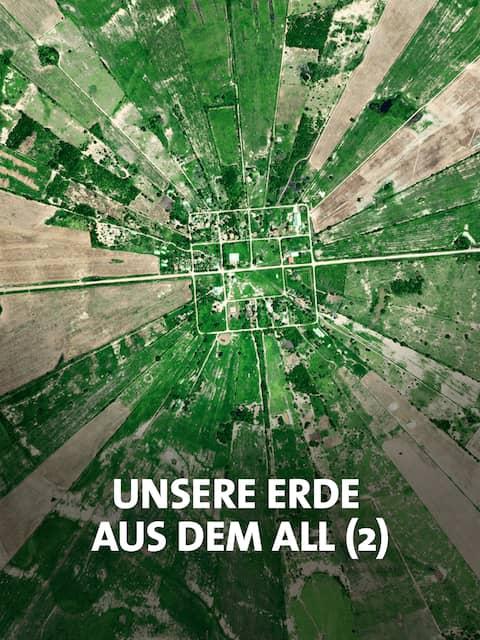 Vom Menschen gestaltete Landschaft in einer Satellitenaufnahme