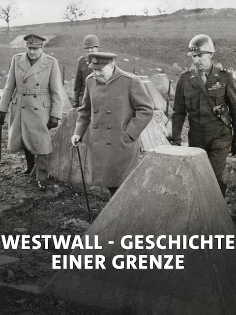 Churchill and Commanders visit the Western Front on March 4, 1945. Winston Churchill walked in the dragon s teeth of the Siegfried Line near Aachen, with him, L-R: Field Marshall Montgomery, Sir Allen Brooke, unidentified U.S. Officer, Churchill, and Lt