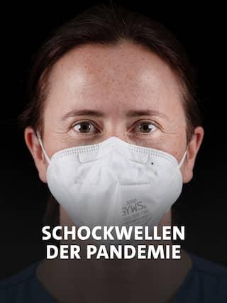 Ärztin Susanne auf der Coronavirus Station im Ernst Bergmann Klinikum Potsdam, Brandenburg.
