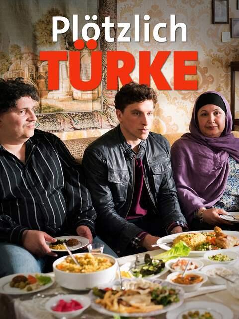 türkische Familie gastfreundlich am Essenstisch