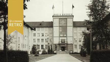Das Funkhaus von Radio Bremen im Jahre 1954.