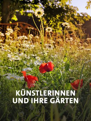 Wilder Garten mit Mohn