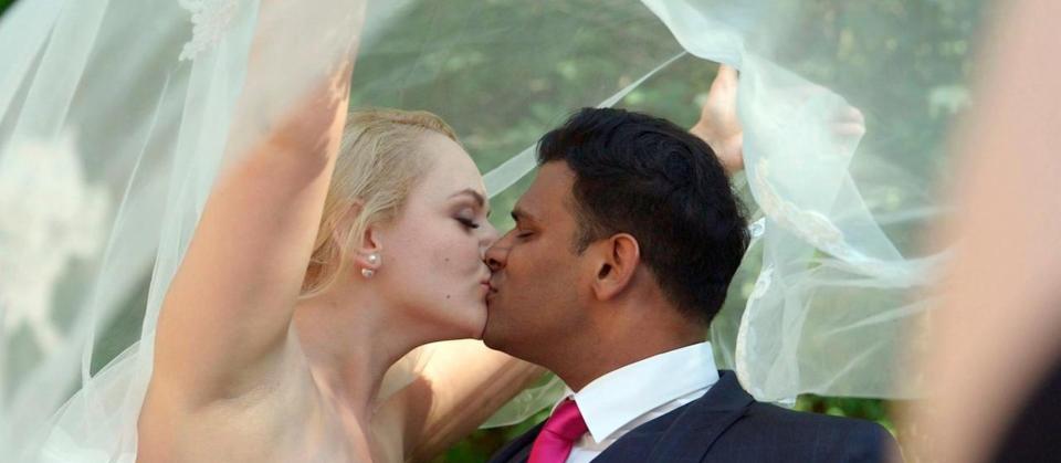 Hochzeitsbild mit Gabriel und Maria