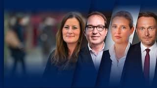 Die Oppositionsparteien im Vierkampf