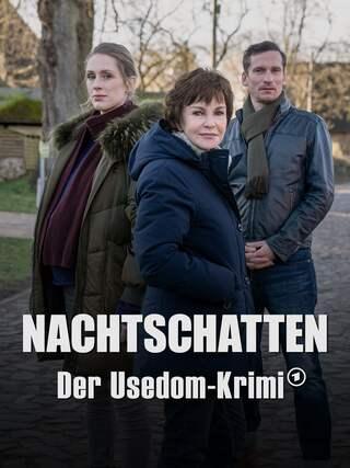 Katrin Sass, Rikke Lylloff und Till Firit posieren für ein Foto.